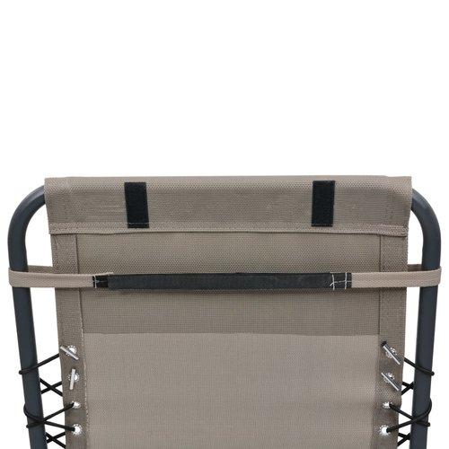vidaXL Hoofdsteun voor ligstoel 40x7,5x15 cm textileen taupe