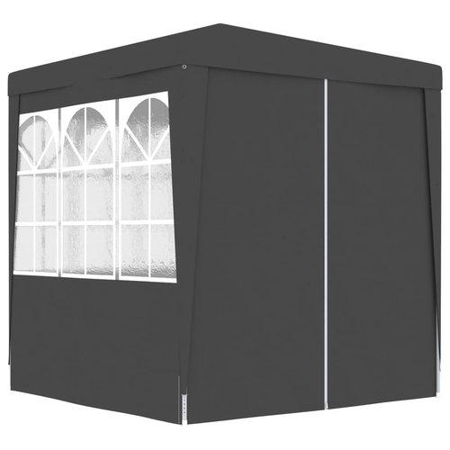 vidaXL Partytent met zijwanden professioneel 90 g/m² 2x2 m antraciet