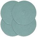 vidaXL Placemats 4 st rond 38 cm katoen effen groen