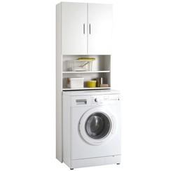 Wasmachinekast met opbergruimte wit