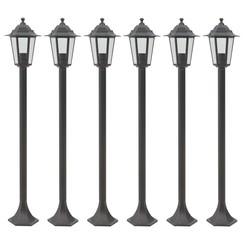 Paalverlichting voor tuin E27 110 cm aluminium brons 6 st