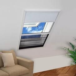 Raamhor plissé met verduistering 80x100 cm aluminium