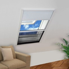 Raamhor voor dakramen met zonnescherm plissé 160x80 cm