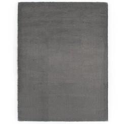 Vloerkleed 140x200 cm kunstkonijnenbont donkergrijs