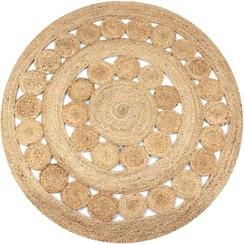 Tapijt met ontwerp rond 150 cm gevlochten jute
