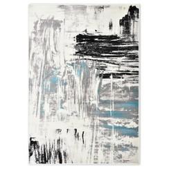 Vloerkleed 160x230 cm PP blauw