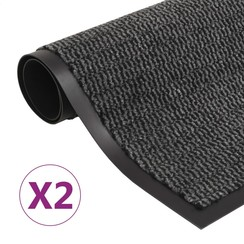 Droogloopmatten 2 st rechthoekig getuft 120x180 cm antraciet