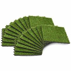 Kunstgrastegels 30x30 cm groen 20 st