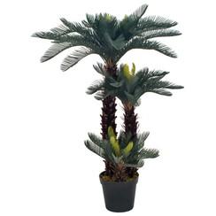 Kunstplant met pot cycaspalm 125 cm groen
