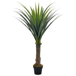 Kunstplant met pot yucca boom 145 cm groen