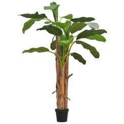 Kunst bananenboom met pot 250 cm groen