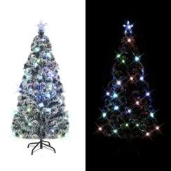 Kunstkerstboom met standaard/LED 210 cm 280 takken