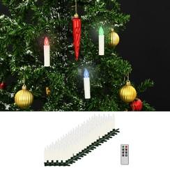LED-kaarsen kerst draadloos met afstandsbediening 100 st RGB