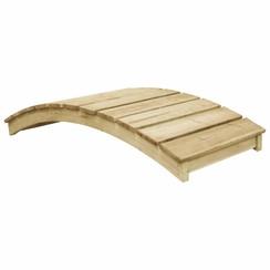 Tuinbrug 170x74 cm geïmpregneerd grenenhout