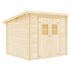 Blokhut 28 mm 3,3x2,6 m massief hout