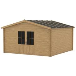 Blokhut 28 mm 400x400 cm hout