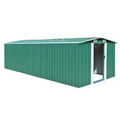 Tuinschuur 257x597x178 cm metaal groen