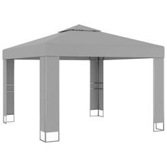 Prieel met dubbel dak 3x3 m antraciet