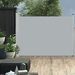 Tuinscherm uittrekbaar 120x500 cm grijs