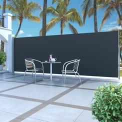 Windscherm uittrekbaar 160x500 cm zwart