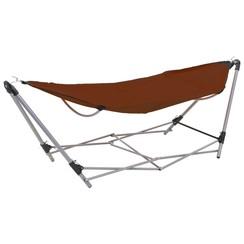 Hangmat met inklapbare standaard bruin