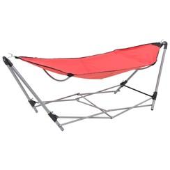 Hangmat met inklapbare standaard rood