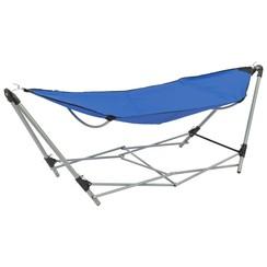 Hangmat met inklapbare standaard blauw