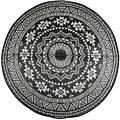 Buitenkleed 180 cm zwart en wit OC18