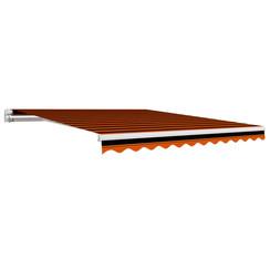 Luifeldoek 300x250 cm canvas oranje en bruin