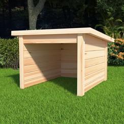Overkapping voor grasmaaier 92x104x59,5 cm 19 mm grenenhout