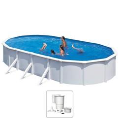 Zwembad Steely Deluxe ovaal 7,3x3,6x1,2 m