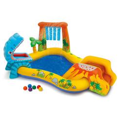 Opblaaszwembad Dinosaur Play Center 249x191x109 cm 57444NP