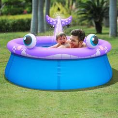 Zwembad opblaasbaar met sproeier walvisvormig 1143 L 175x62 cm