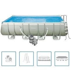 Ultra Frame Zwembadset rechthoekig 549x274x132 cm 28352GN