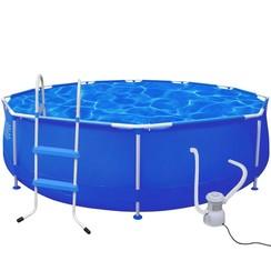 Rond zwembad met trap en filterpomp 360 x 76 cm