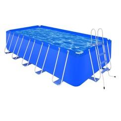 Zwembad met ladder en pomp staal 540x270x122 cm