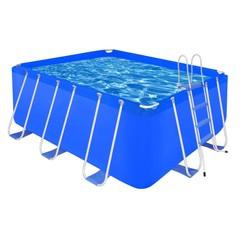 Opbouwzwembad met stalen ladder 400 x 207 x 122 cm