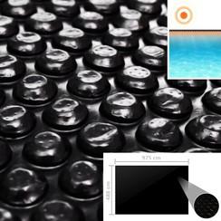 Zwembadhoes 975x488 cm PE zwart