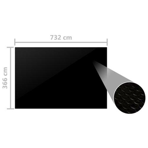 Zwembadhoes 732x366 cm PE zwart