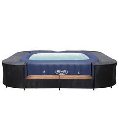 Bestway Lay-Z-Spa Spabad met ombouw blauw en zwart