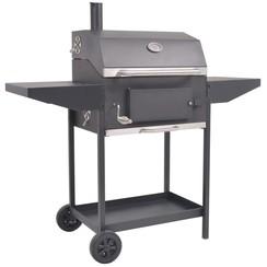 Houtskoolbarbecue met onderplank zwart