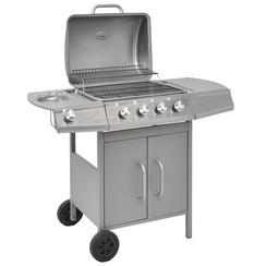 Gasbarbecue 4+1 kookzone zilver