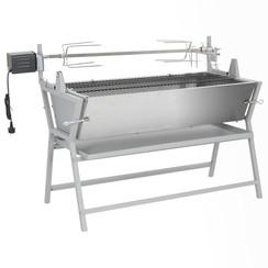 Draaispit barbecue ijzer en roestvrij staal