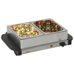 Buffetwarmer 200 W 2x1,5 L roestvrij staal
