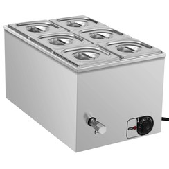 Voedselwarmer bain-marie 1500 W GN 1/6 roestvrij staal