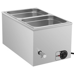 Voedselwarmer bain-marie 1500 W GN 1/2 roestvrij staal