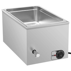Voedselwarmer bain-marie 1500 W GN 1/1 roestvrij staal