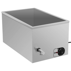 Voedselwarmer bain-marie 1500 W roestvrij staal