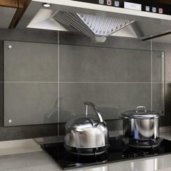 Spatscherm keuken 120x50 cm gehard glas transparant
