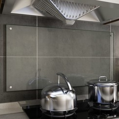 Spatscherm keuken 100x50 cm gehard glas transparant